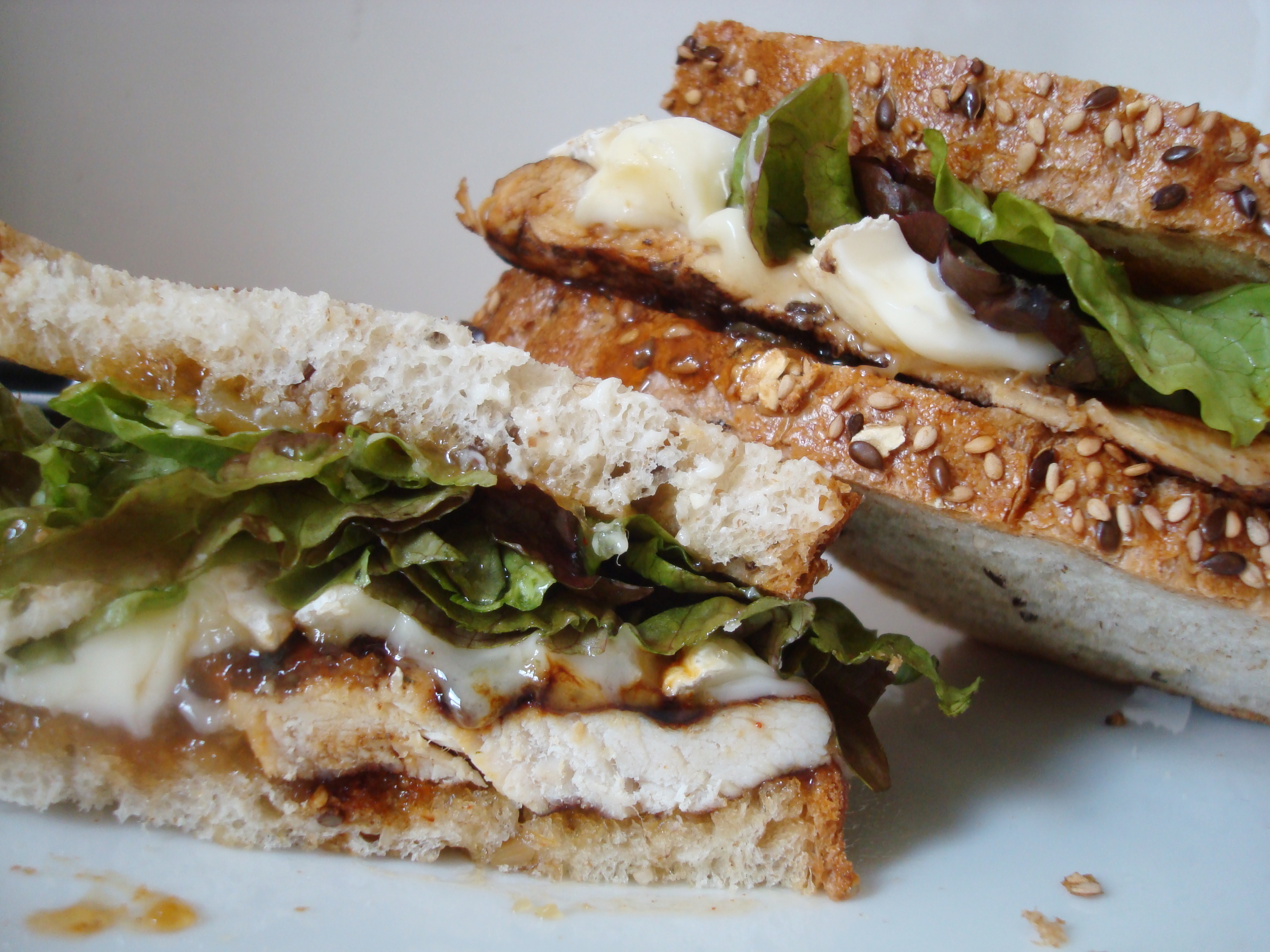 Balsamic Grilled Chicken Sandwich with Brie and Mango Chutney ...