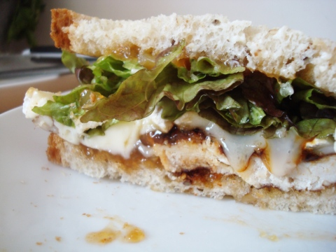 Balsamic Grilled Chicken Sandwich with Brie and Mango ...